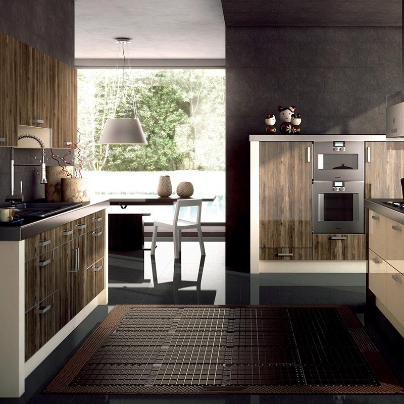 定做现代厨房橱柜双饰面系列门板整体橱柜简欧欧式田园风格定制