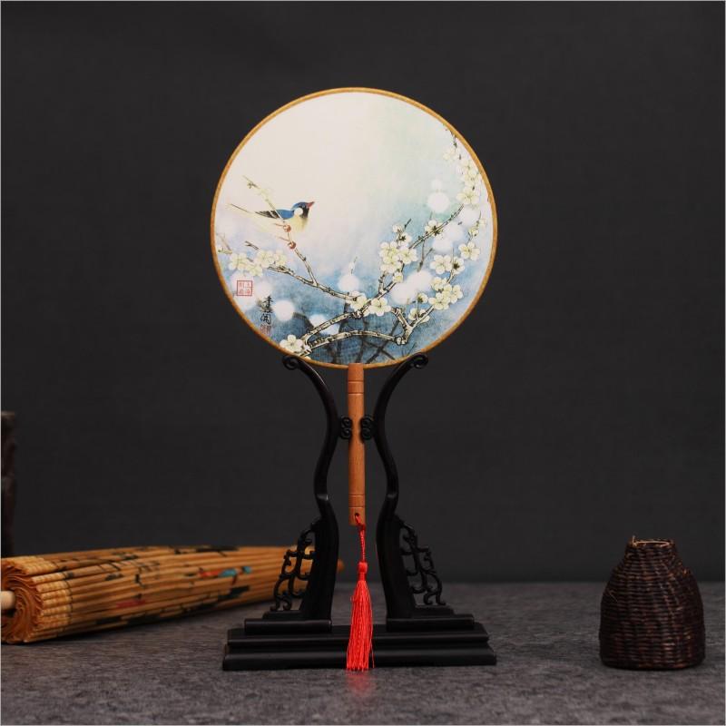 制扇至美团扇宫扇中国风古代古典圆扇女式丝扇礼扇女古风汉服舞蹈