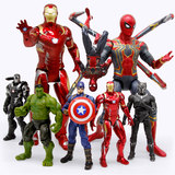 Zhongdong Genuine Marvel Avengers 4 Spider-Man Iron Man Green Giant Hand-made Toy Model Peripheral 3