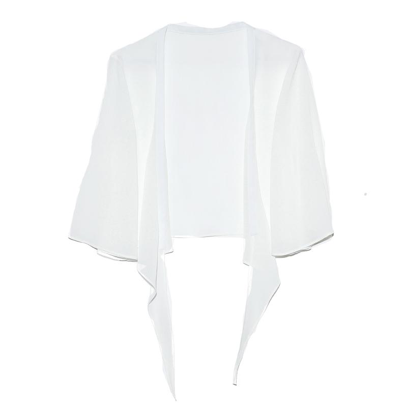 披肩女夏季外搭配裙子的上衣雪纺防晒开衫女夏薄短款宽松雪纺外套