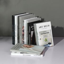 简约假书摆件北欧风格家居客厅店铺ins装饰品道具轻奢仿真书摆设