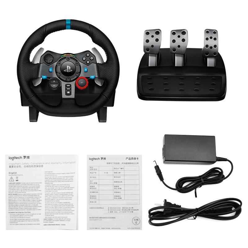 罗技G29游戏方向盘 极品飞车PS3/PS4赛车900度模拟驾驶G27