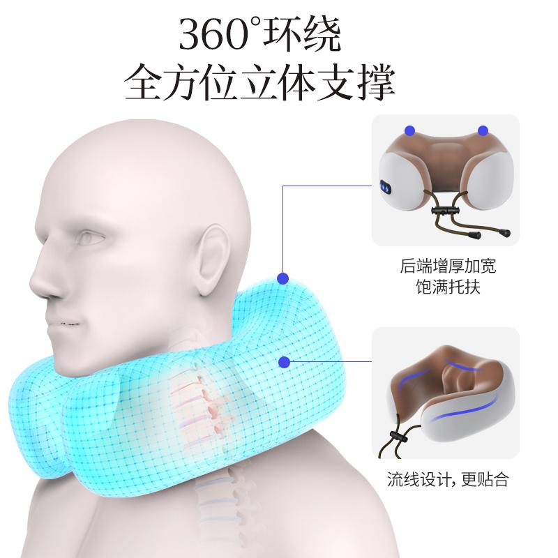 u型枕头电动肩颈椎颈部颈肩按摩器揉捏脖子理疗神器多功能护颈仪
