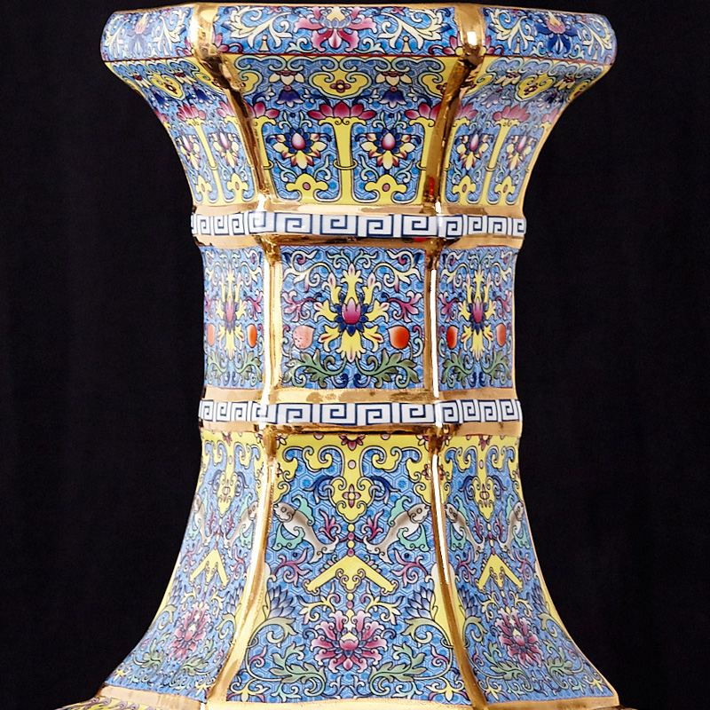 景德镇陶瓷器仿古花瓶摆件客厅插花中式古典家居装饰品大号博古架