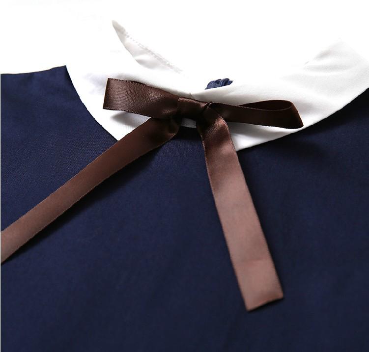 童装女童连衣裙英伦学院风裙子中小学生校服170cm纯棉班服表演裙