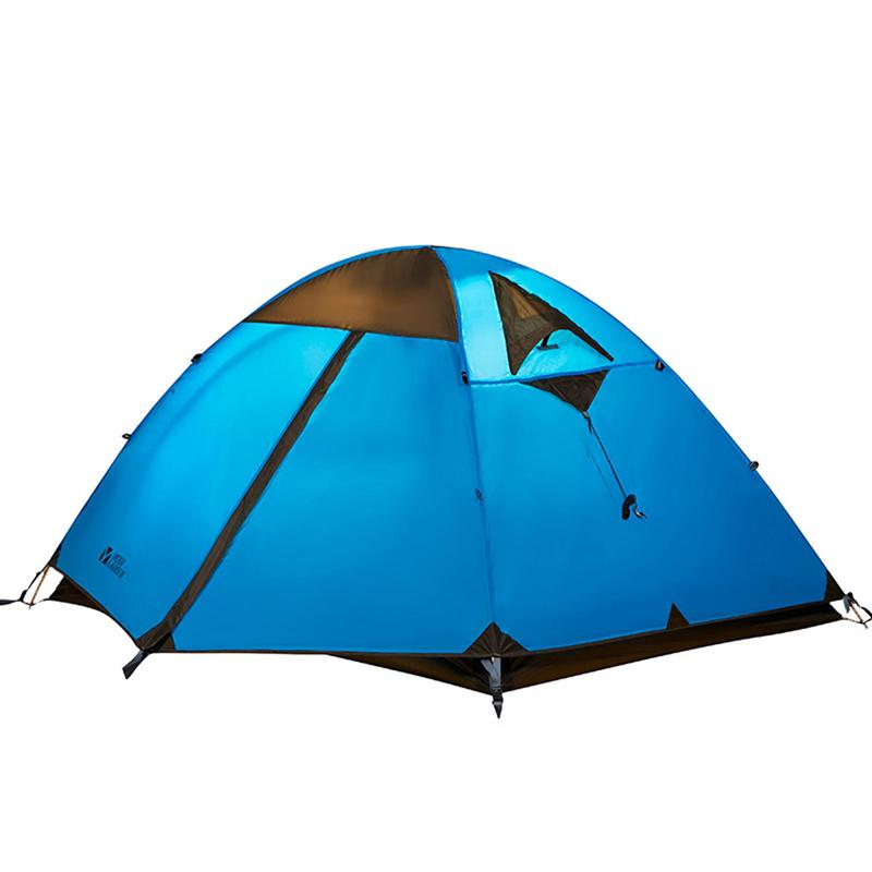 3 登山露营防风防雨三季铝杆三人双层野营帐篷冷山 牧高笛户外装备