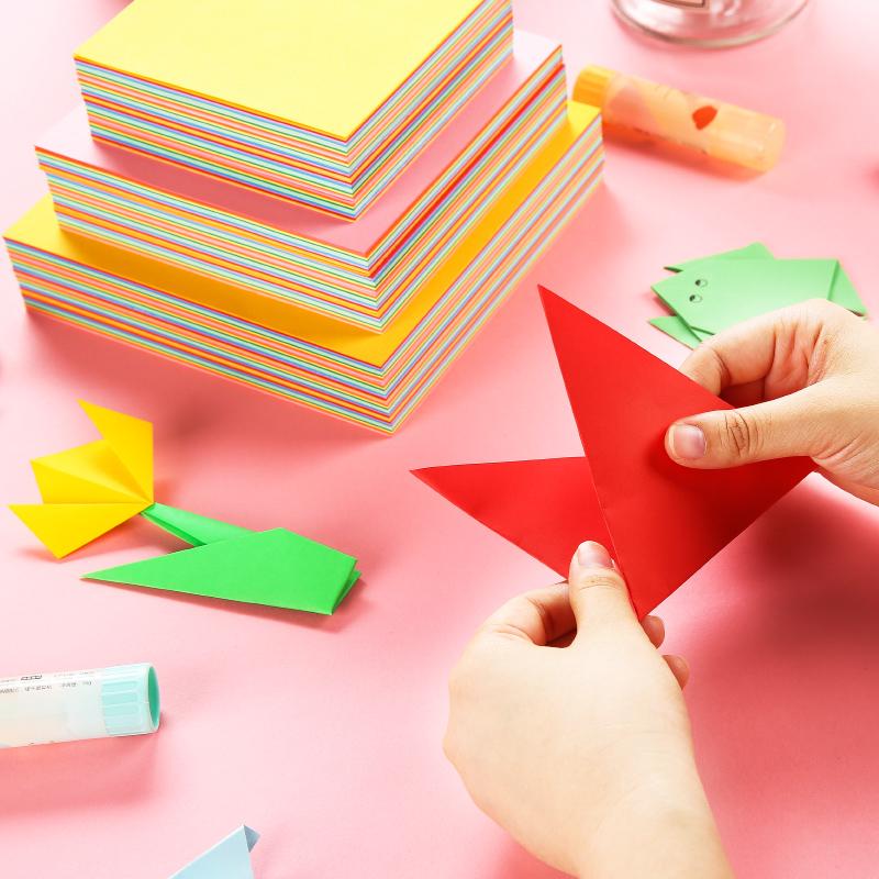 晨光文具简单折手工折纸幼儿园儿童手工彩色剪纸正方形套装手工DIY Z54A10【包邮】