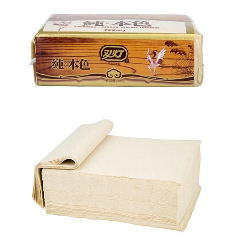 正品双灯卫生纸整箱批本色精品468优质平板纸家用厕纸12包家庭装