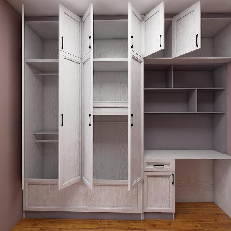 全屋定制轻奢现代极简铝合金家具衣柜衣橱组装衣帽间无甲醛防潮
