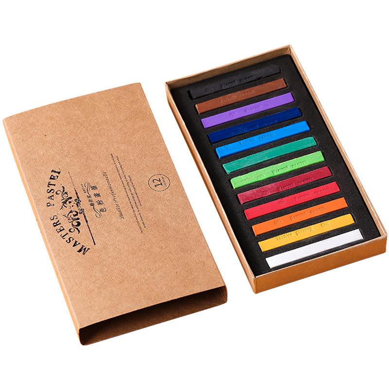 马利炫彩色粉笔24色36色48色画画颜料蜡笔套装初学者色彩手绘粉棒涂笔美术专业掌握粉彩绘画上色刷画笔工具