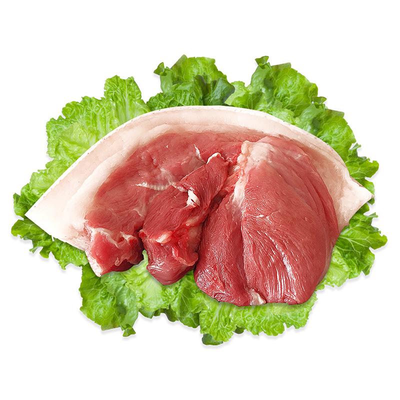 黑猪肉土猪肉新鲜 野猪肉鲜猪肉2斤跑山黑猪肉 农家散养冰鲜猪肉