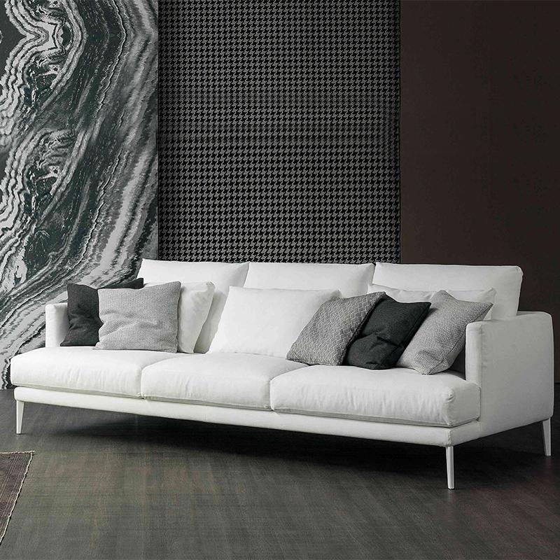 北欧布艺沙发小户型简约ins风客厅公寓整装双人三人乳胶沙发羽绒