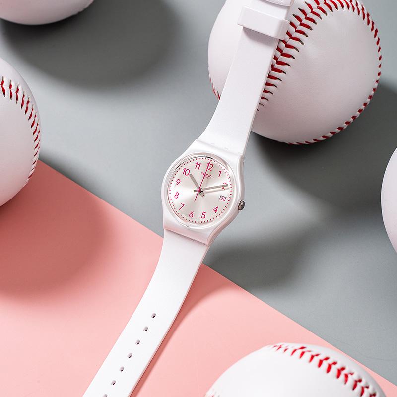 GW411 新品时尚简约休闲石英男女表 2020 斯沃琪瑞士腕表 Swatch
