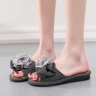 夏季可爱凉拖鞋女室内防滑软底甜美花朵时尚百搭家居家用居家鞋夏