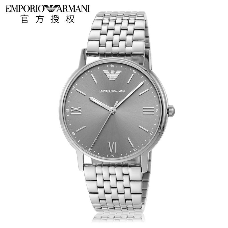 Armani阿玛尼手表男钢带石英时尚潮流男士手表套装腕表AR80030