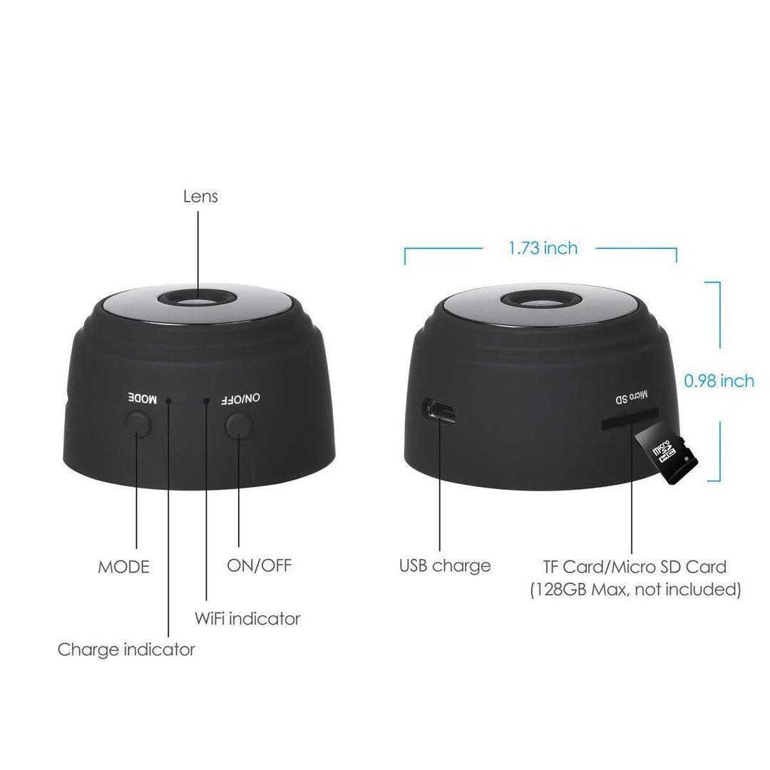 迷你高清无线不发光远程高科技监控 微型磁吸监控