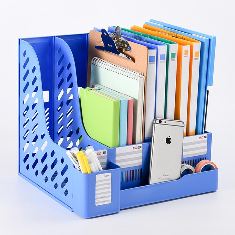 文件架多层正彩文件框收纳办公用品书立架多层简易桌上资料筐文件夹收纳盒学生用批发