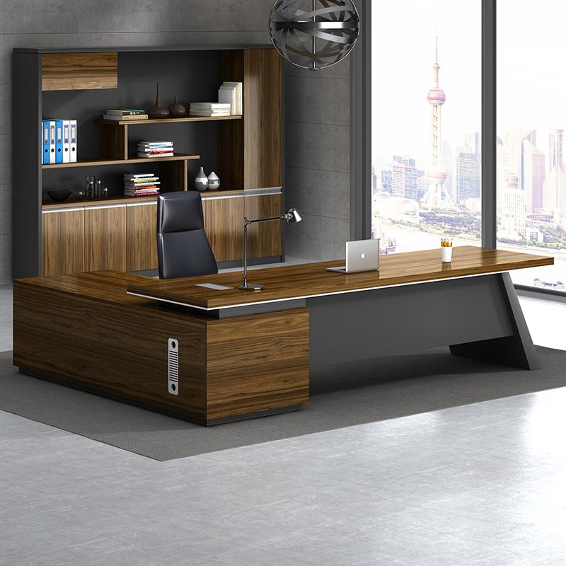 老板桌新中式办公总裁桌子简约现代董事长大班台主管经理桌椅组合