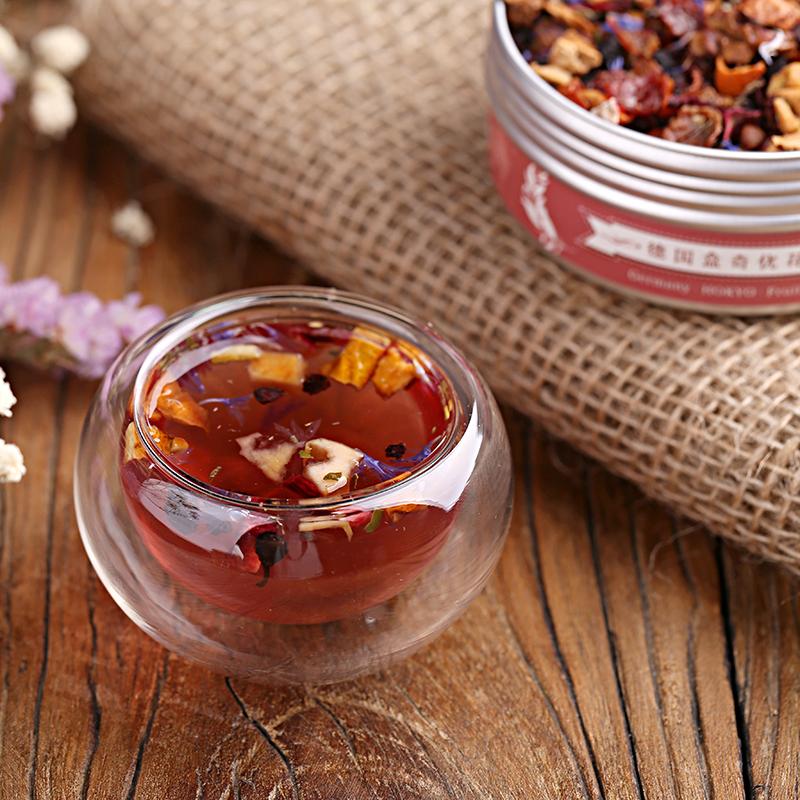 罐装礼盒送闺蜜包邮 2 德国进口蓝莓乳酪花果茶果粒水果干茶 HOKYO