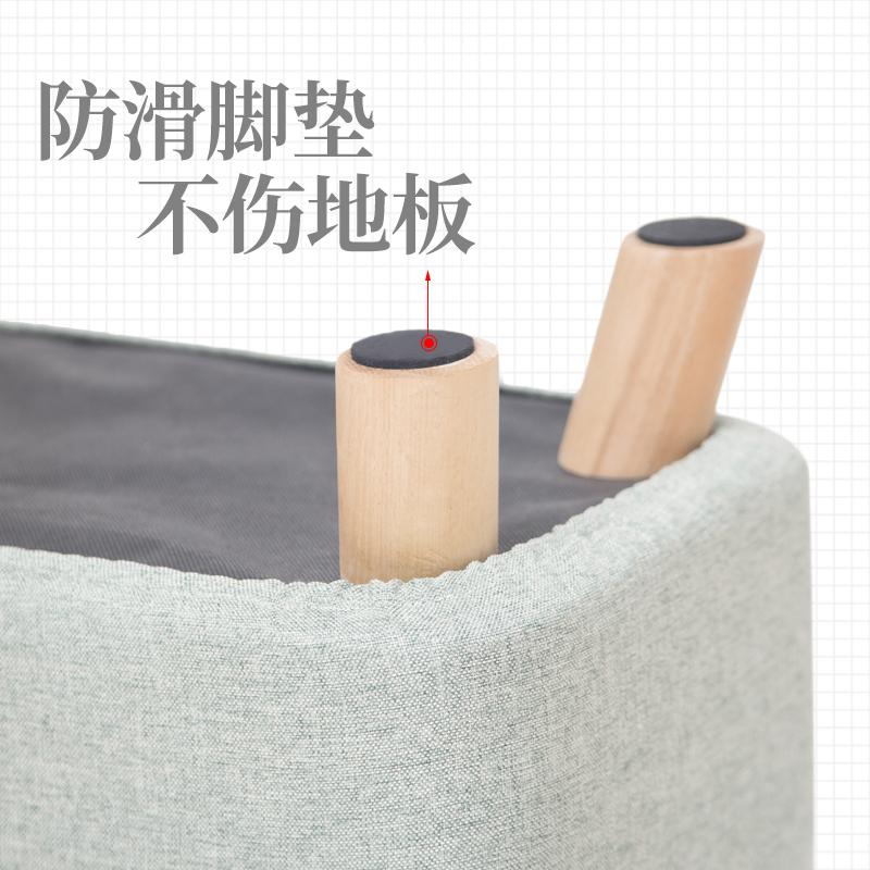 服装店布艺换鞋凳客厅搁脚凳时尚穿鞋凳长凳 床尾凳 实木沙发凳