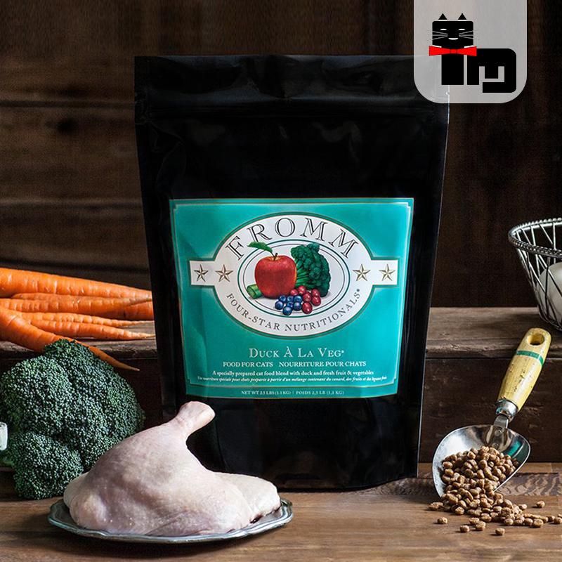 土猫宠物 卓力标Fromm绿福摩无谷鸭肉三文鱼蔬菜成幼全猫粮15磅优惠券