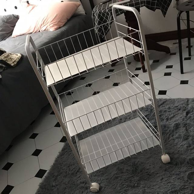 Storage small trolley floor multi-storey bedroom bed simple bookshelf snack storage artifact kitchen rack