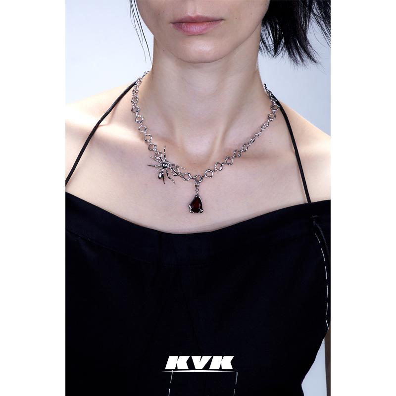 蜘蛛雪滴吊坠扭转项链 KVK 店庆回馈款
