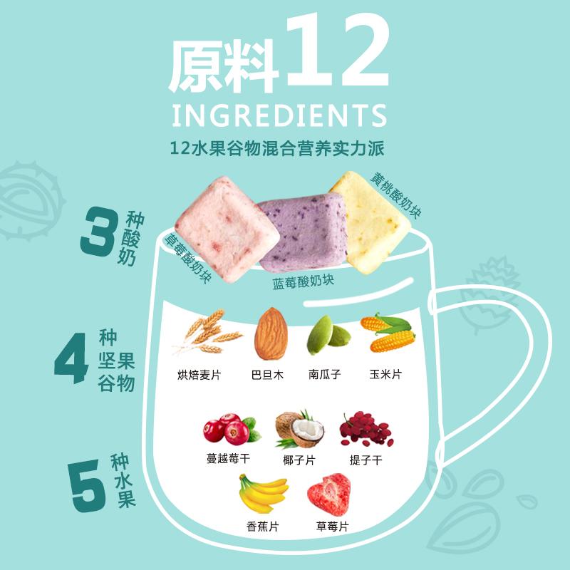 【烈儿推荐】庆福珍酸奶果粒燕麦片