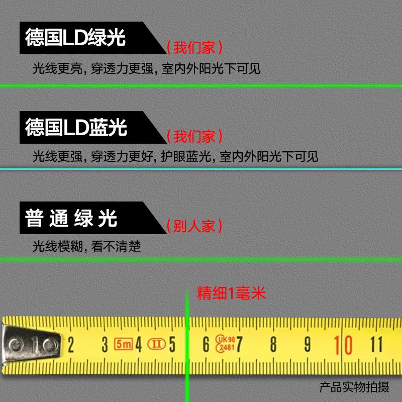 德国绿光水平仪2线3线5线LD蓝光激光红外线高精度自动打线平水仪