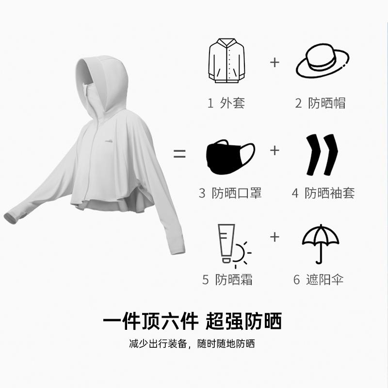 ohsunny防晒衣女2021新款夏季防紫外线透气防晒衫长袖冰丝防晒服 No.2