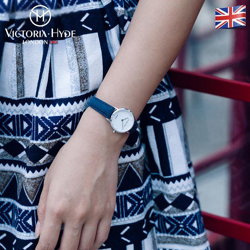 Victoria Hyde手表女小巧简约时尚防水石英学生女表皮表带DW6001P