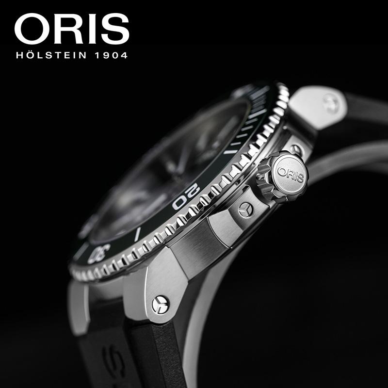 ORIS豪利时潜水系列男表钢带瑞士防水休闲潮流皮带自动机械腕表