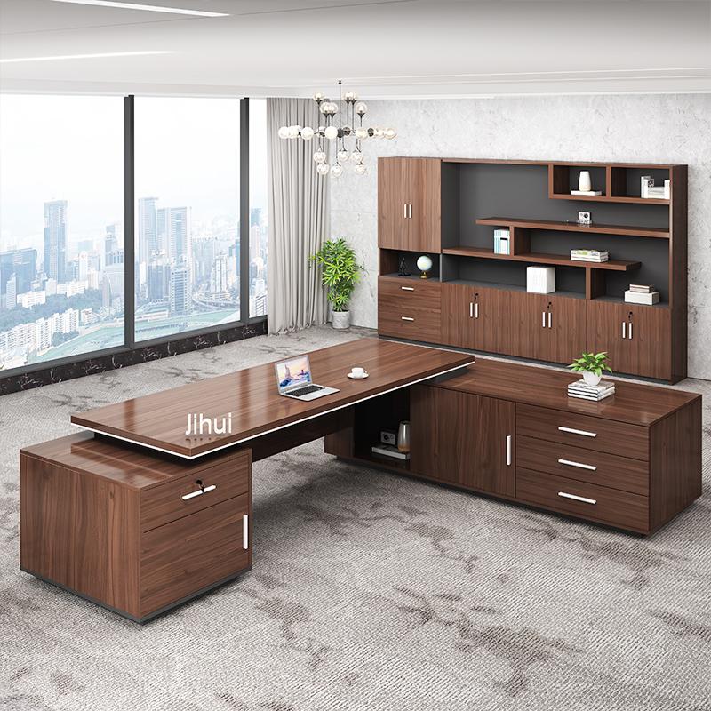 老板桌椅组合大班台大气总裁桌经理桌主管桌简约现代办公室桌子
