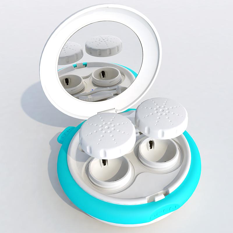 美瞳清洗器隐形眼镜清洗器隐形眼镜盒除蛋白 mini 还原仪 3N