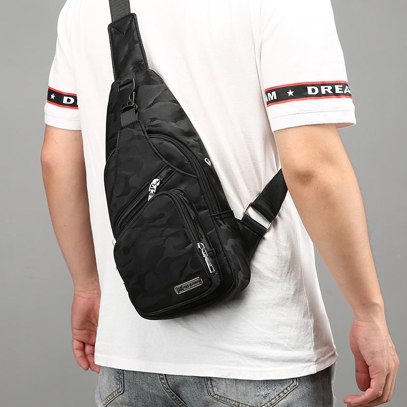 男士胸包迷彩单肩斜跨男包包学生牛津布背包新款多功能男生胸前包