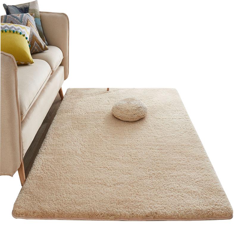 北欧羊毛地毯儿童房卧室满铺可爱床边宿舍脚垫米白色客厅茶几地垫