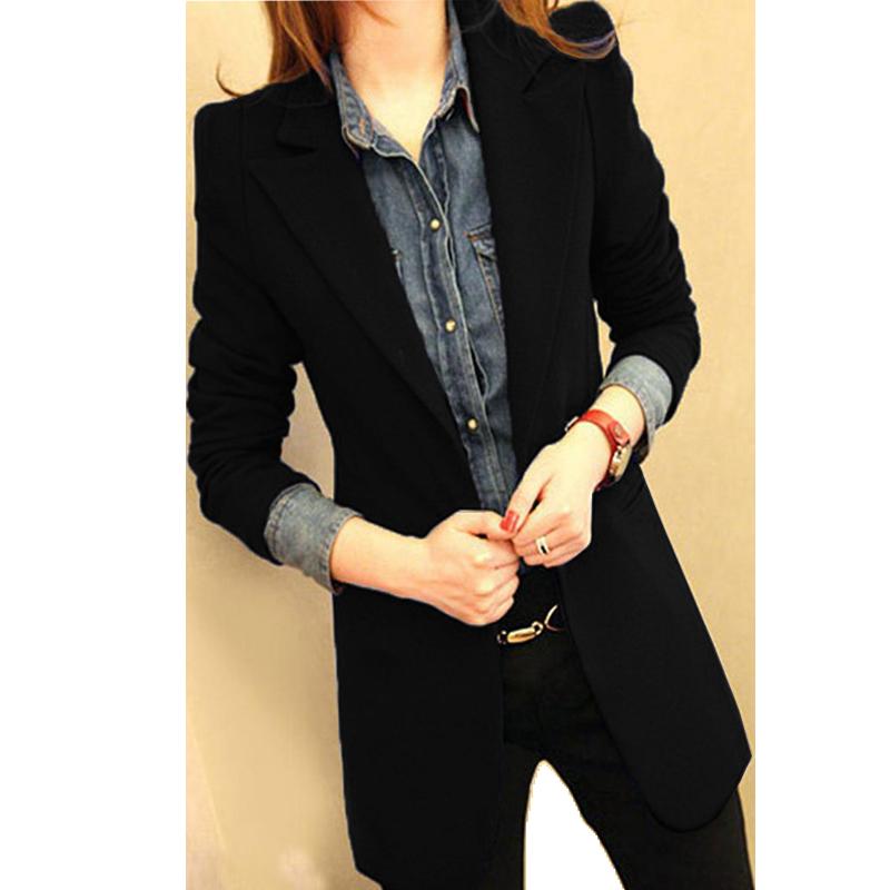 网红小西装外套女2019新款春秋季韩版修身中长款秋装休闲西服上衣