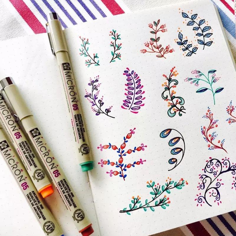 日本樱花sakura彩色针管笔防水勾线笔进口樱花牌美术漫画设计专用笔描边描线绘图笔一套线描画手绘学生用套装