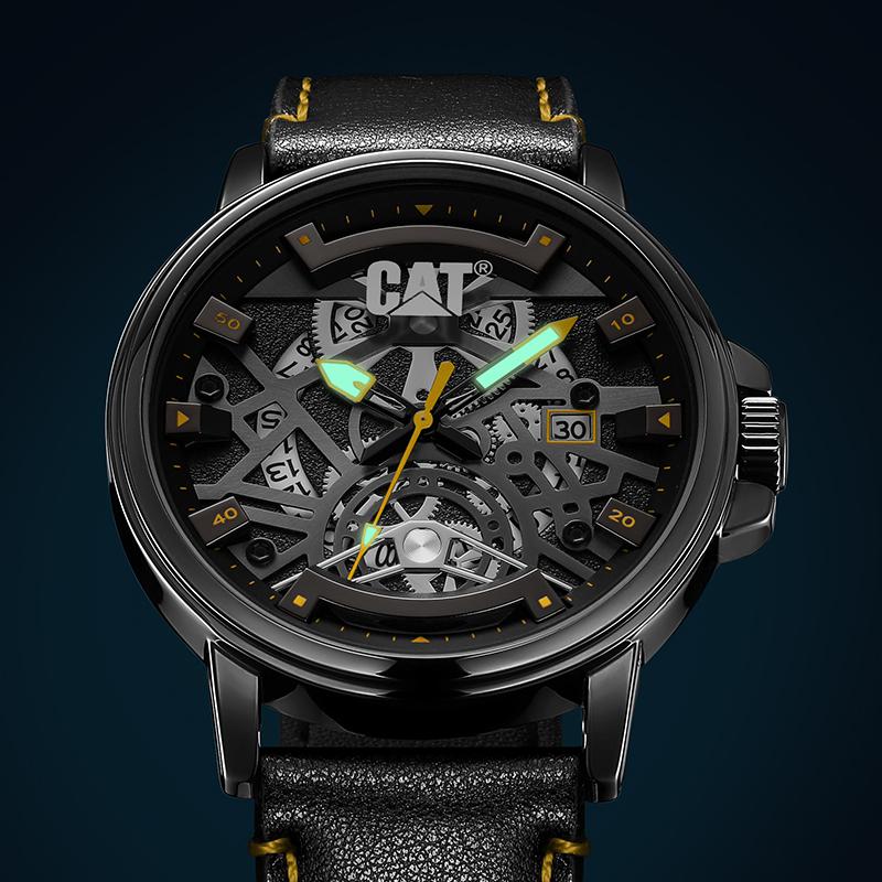 卡特彼勒欧美潮流手表机械概念霸气男士手表小众夜光石英表 M15 CAT