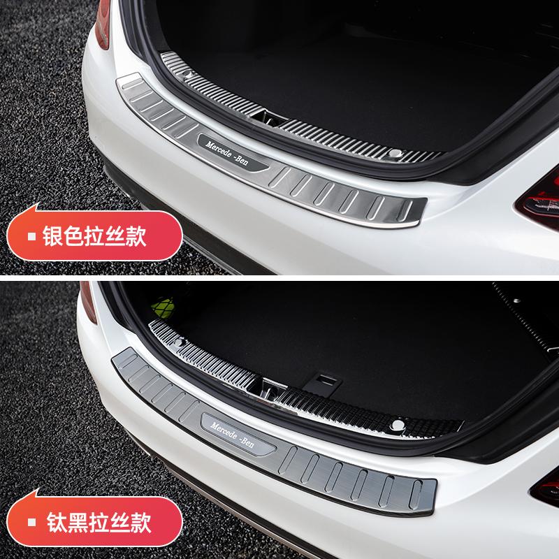 E300L 内饰装饰改装 GLA 迎宾踏板 GLC260 C200L 级 C 门槛条新 C260L 奔驰