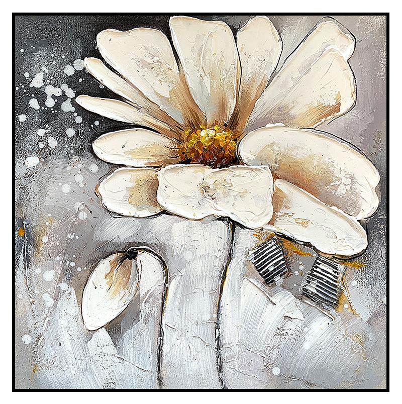 手繪抽象玉蘭油畫北歐玄關客廳餐廳臥室房間兩聯創意裝飾掛畫個性