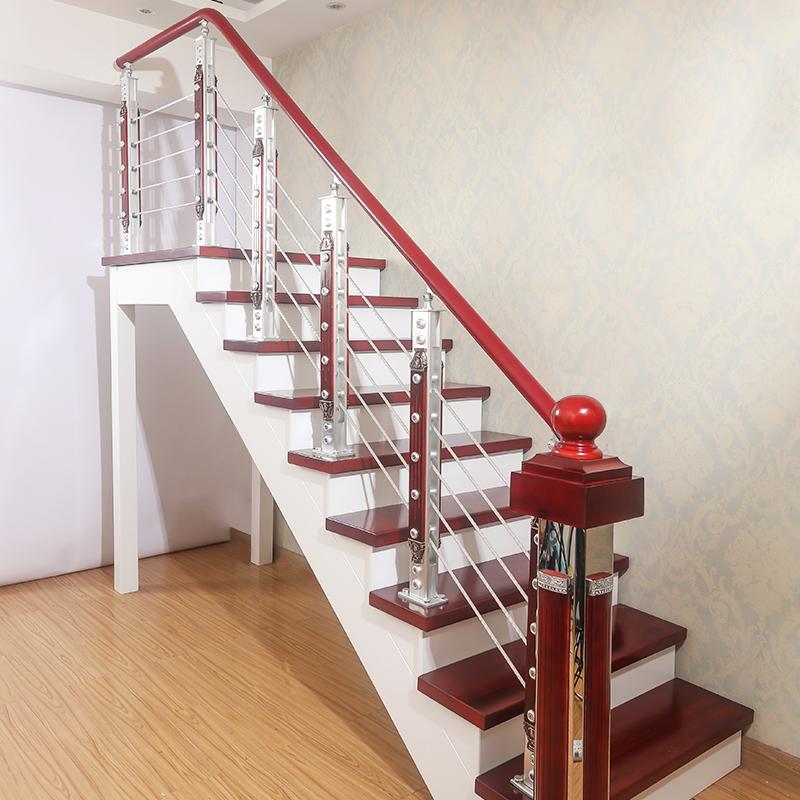 楼梯扶手pvc铝合金实木栏杆立柱家用简约现代欧式室内飘窗护栏
