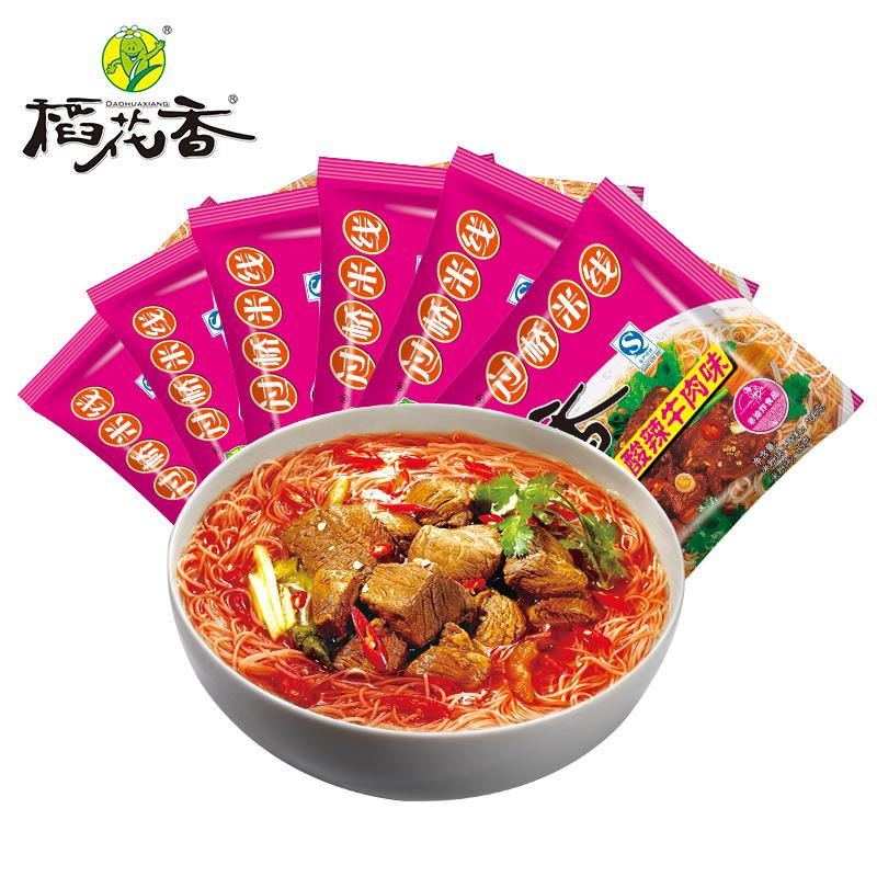 【稻花香】过桥米线酸辣牛肉味粉丝6袋