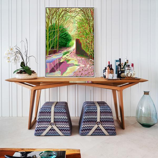 【原作版畫】北歐餐廳裝飾油畫客廳掛畫沙發背景墻豎版簡約過道
