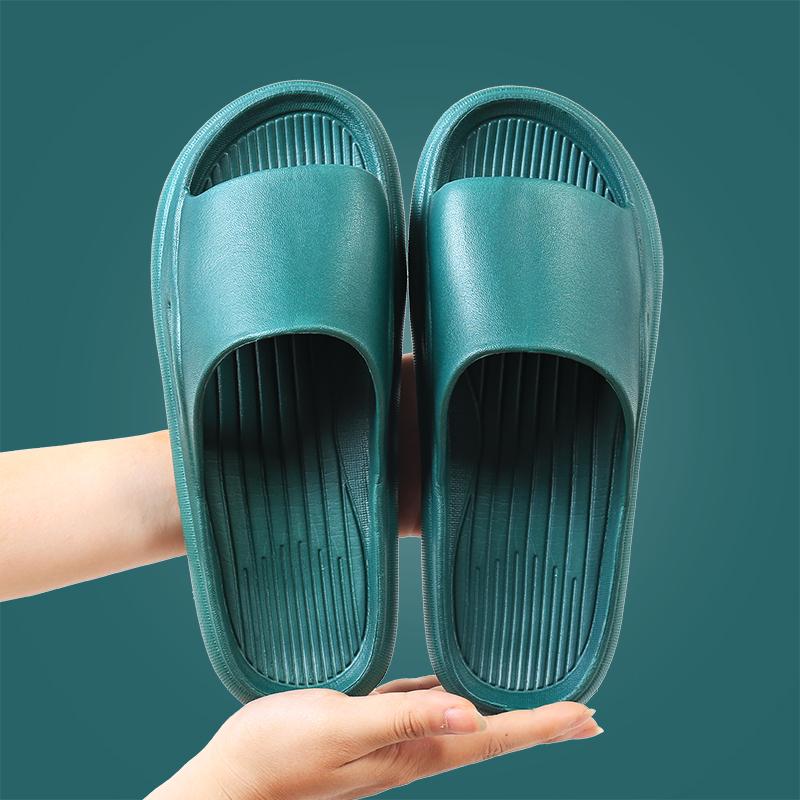 家用拖鞋女夏季浴室洗澡防滑漏水室内居家一字情侣凉拖鞋男士