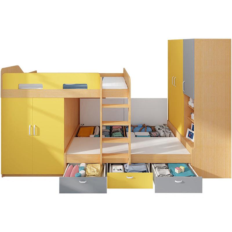 榻榻米交错式上下床双层床 多功能省空间高低床组合床儿童床