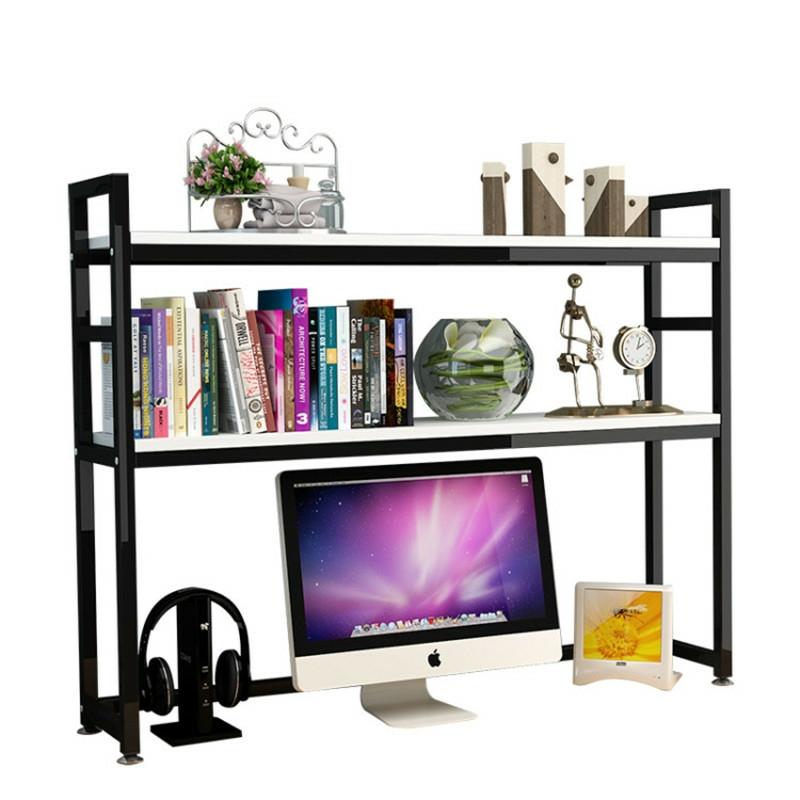 桌上小书架简易桌面书桌置物架学生用宿舍多层简约电脑桌子收纳架