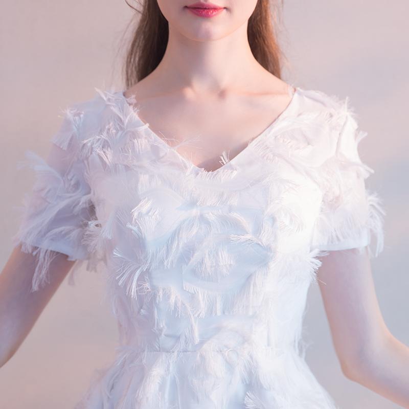 宴会晚礼服2018夏新款学生短款聚会派对小礼服连衣裙女结婚敬酒服