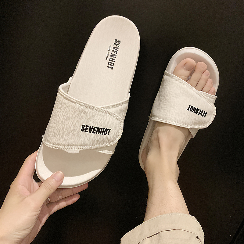 拖鞋男潮室外2020新款夏季情侣外穿时尚防滑网红凉拖流韩版一字拖