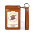 SEPTEMBER 27 DESIGNS leather vegetable tanned first layer cowhide access card holder retro keychain card holder